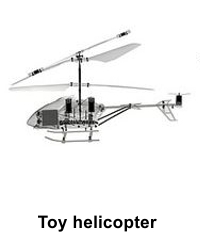 X-ray image of toy helicopter
