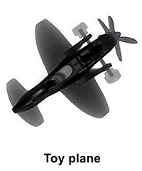 X-ray image of toy plane